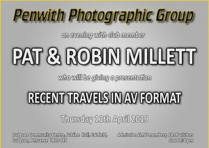 Members Evening - Pat & Robin Millett @ Ludgvan Community Centre | Ludgvan | United Kingdom