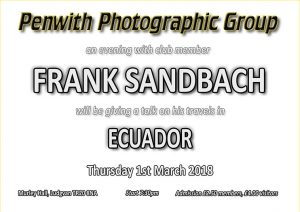 Members Evening - Frank Sandbach @ Murley Hall | Ludgvan | United Kingdom