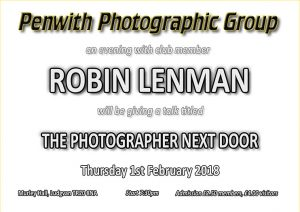 Members Evening - Robin Lenman @ Murley Hall | Ludgvan | United Kingdom